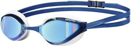 Arena Unisex Competition Python Mirror Swimming Goggles in Blue /& White
