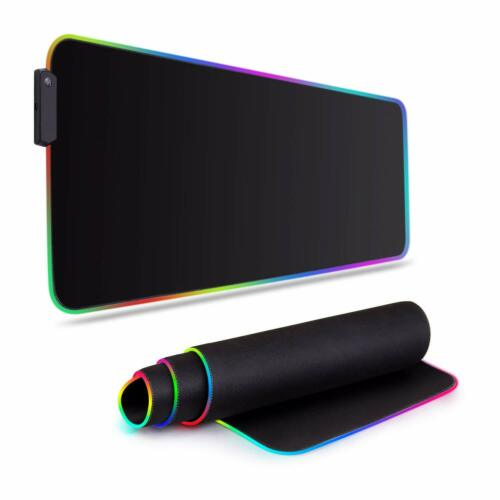 RGB Gaming Mouse Pad Large Led Mouse Keyboard Pad Mat 31.5 X 11.8inch US stock