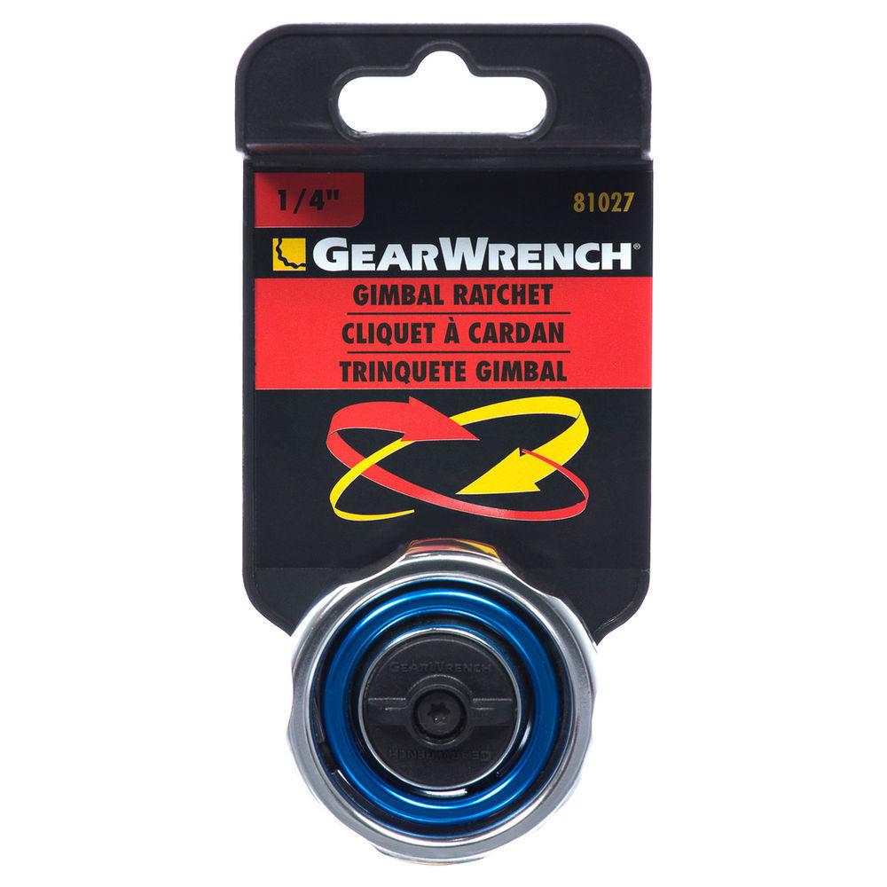 Gearwrench GIMBAL RATCHET 5 Degree Swing Arc 72-Teeth, 1 4  & 3 8  Drive Chrome