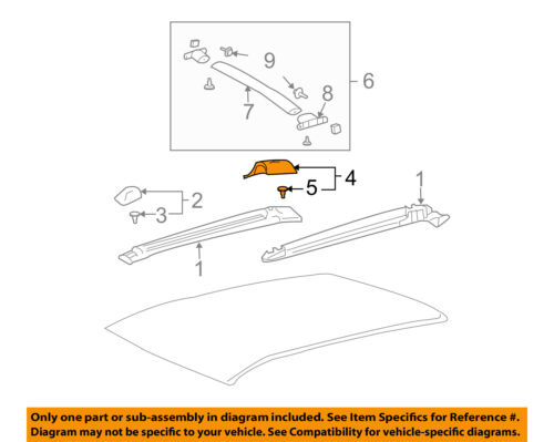 Pontiac GM OEM Vibe Roof Rack Rail Luggage Carrier-Rear Cover Right 88969761