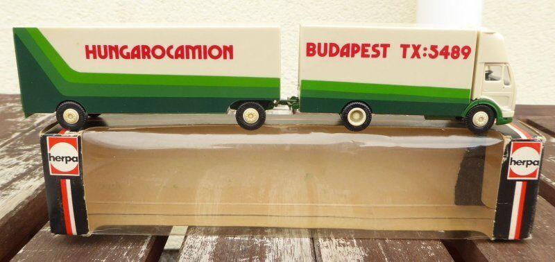 Herpa 912321 Ackermann MB Truck Hungarocamion Budapest Hungary Rare,Very