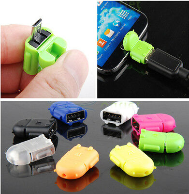 Micro USB To USB 2.0 Host OTG Adapter Converter For Samsung Android Phone Tablet