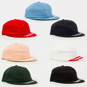 92a5850d Supreme SS18 Visor Label 6-Panel cap logo camp hat box | eBay
