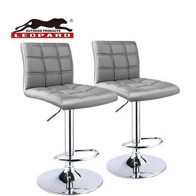 Stupendous Leopard Square Back Adjustable Swivel Bar Stool Set Of 2 Light Grey 6926742774853 Ebay Uwap Interior Chair Design Uwaporg