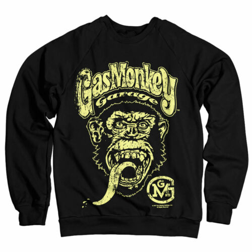 Officially Licensed Gas Monkey Garage Big Brand Yellow Logo Sweatshirt S-XXL