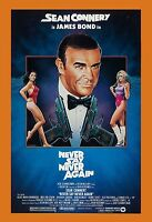 James Bond: Never Say Never Again Sean Connery Usa Movie Poster 1983
