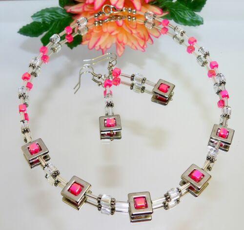 Set collar aretes schmuckset cadena Collier esmaltes plateado parís 1a