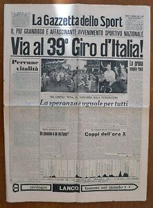 Ciclismo Giro D Italia La Gazzetta Dello Sport Del 1956 Ebay
