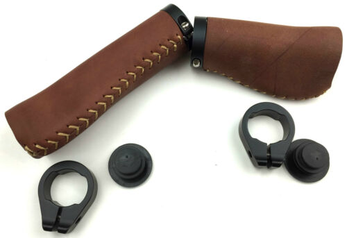 Böttcher Factory Bicycle Grips Leather Long//Short braun