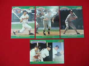 1992-SCORE-034-THE-FRANCHISE-034-COMPLETE-4-CARD-SET-MUSIAL-MANTLE-YASTRZEMSKI-L-K