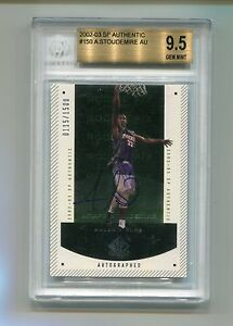 2002-03-UD-SP-Authentic-150-Amare-Stoudemire-Auto-RC-Beckett-BGS-9-5-Gem-Mint