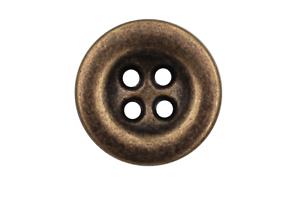 4 mondäne messingfarbene Metallknöpfe mit schwarzem Glitzerstein 5662am