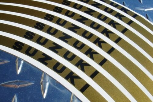 Tape GSXR TL1000 SV1000 SV650 Hayabusa BKING GSXS Gold SUZUKI Logo Rim Stripes