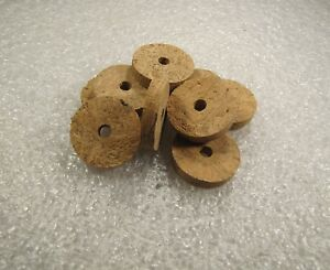 "Cork Ring, Natural Wave Burl Burl 1/4"" X 1.25 X 1/4 (4) Pcs-afficher Le Titre D'origine"