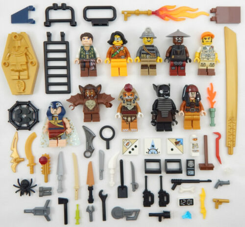 10 NEW LEGO MINIFIG LOT figures people Men zombie minifigures city town mummy