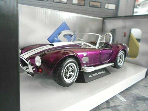 AC Shelby Cobra Ford V8 427 MKII schwarz lila violett 1965 Solido Metall  1:18