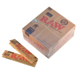 RAW-Rolling-Papers-King-Size-Slim-Classic-Natural-Unrefined-Skins-110mm