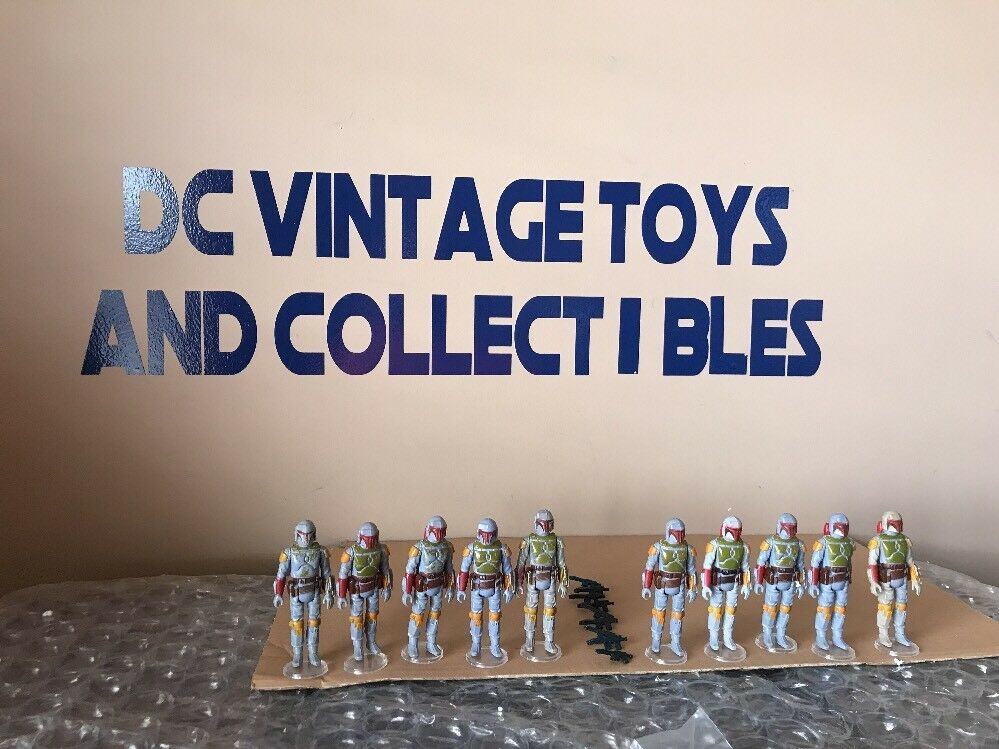 Vintage Star Wars LOT OF 10 BOBA FETT BOUNTY HUNTER Army Builder Lot  1979 Loose