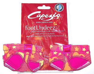 NIP New Capezio Jelz FootUndeez Shoe Foot Underwear Crush Star Heart Pink Adult