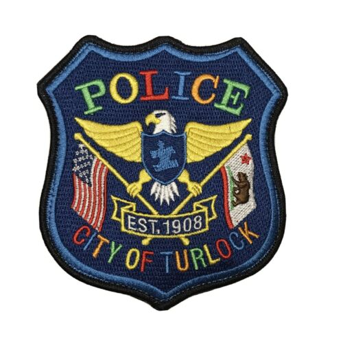 Turlock City Police 2020 Autism Awareness Police Patch California Hook N Loop