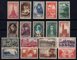 PP135354-FRANCE-STAMPS-YEARS-1938-1941-MINT-MNH-SEMI-MODERN-LOT-CV-137