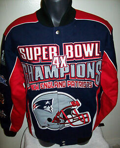 NEW-ENGLAND-PATRIOTS-Limited-Edition-4-Time-Super-Bowl-Champ-Cotton-Jacket