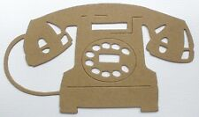 "{4}  ViNTAGE TELEPHONE - Bare Chipboard Die Cuts Embellishments - 5 1/4"" x 3"""