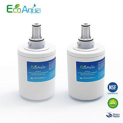 2 x EcoAqua DA29-00003F Ice & Water Fridge Filter to fit Samsung Aqua Pure PLUS