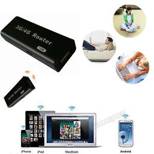 3G-4G-Wireless-Funk-Router-WiFi-Hotspot-IEEE-802-11b-g-n-150Mbps-RJ45-Schwarz
