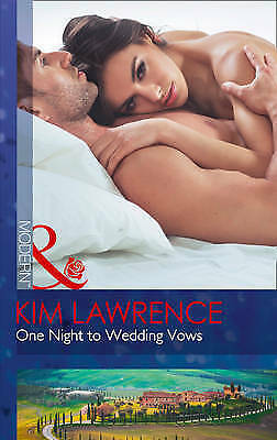 One Night To Wedding Vows (Wedlocked!, Book 76), Lawrence, Kim | Paperback Book