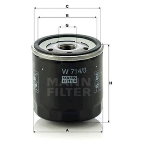 Mann Oil Filter Spin On For Alfa Romeo 155 2.5 V6