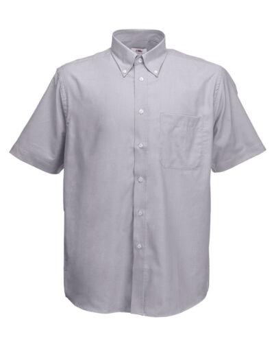 Fruit Of The Loom Men/'s Short Sleeve Oxford Shirt 5-Colour