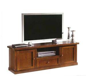 Porta-tv-arte-povera-mobile-televisore-classico-soggiorno-portatv-legno-massello