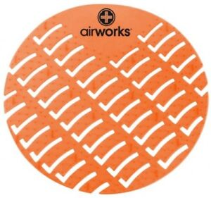 Hospeco Airworks AWUS007-BX Urinal Deodorizer Screen Mango Orange (Box of 10)