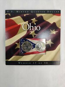 2002 Ohio State Quarters Coins of America U.S. Minted Quarter Dollar