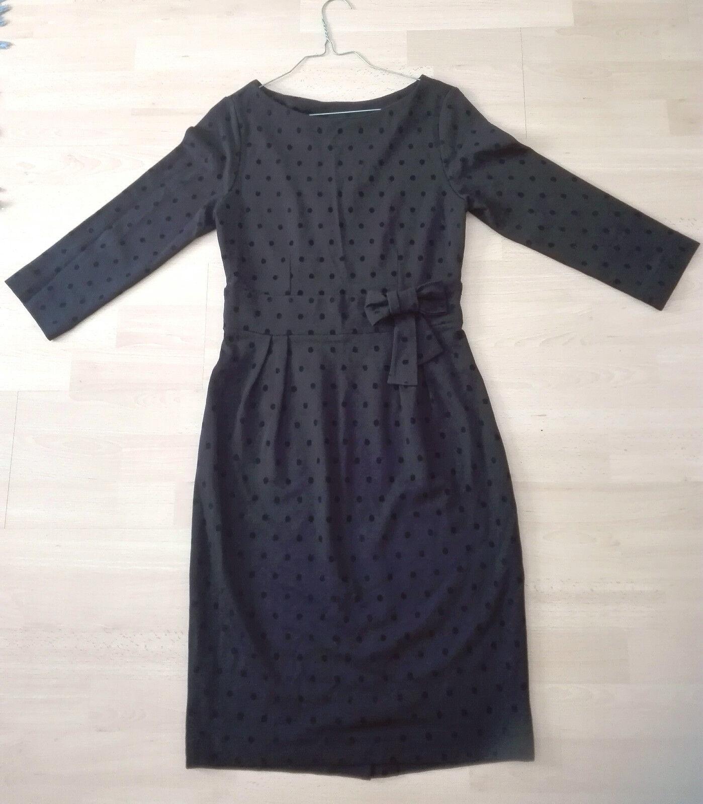 APART Kleid Jerseykleid SCHWARZ Bleistift rock gepunktet polka dots Gr. 36 S neu