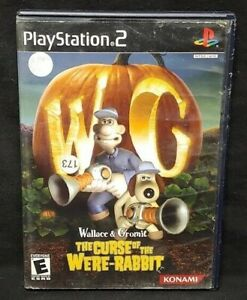 Wallace-amp-Gromit-The-Curse-of-PS2-Playstation-2-Game-Tested-Working-Complete