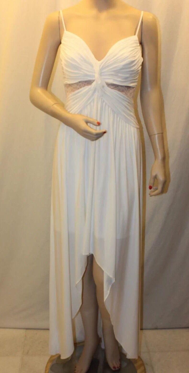 New New New with tag  198 BCBG MAX AZRIA WHITE SOPHIA B607 Dress Sz 6 2adf27