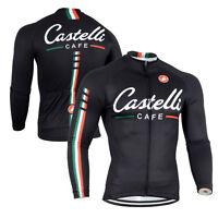 New Fashion Men's Bicycle Long Sleeve Shirts Racing Bike Wear Top Cycling Jersey
