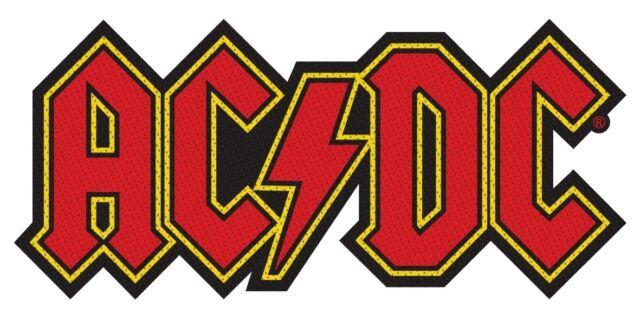 AC/DC ACDC - Patch Aufnäher - logo cut 8x4cm