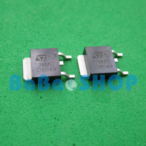 10pcs ~ 500pcs 78M12 MC78M12 LM78M12 Voltage Regulators 0.5A 12V SMD DPAK ST
