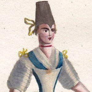 Gravure-XIXe-Femme-Prussienne-de-Silesie-Preusisch-Schlesien-1805