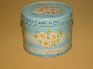 VINTAGE-BATH-3-3-8-034-LANDER-SPICY-APPLE-BLOSSOM-BODY-POWDER-FLOWERS-TIN-EMPTY