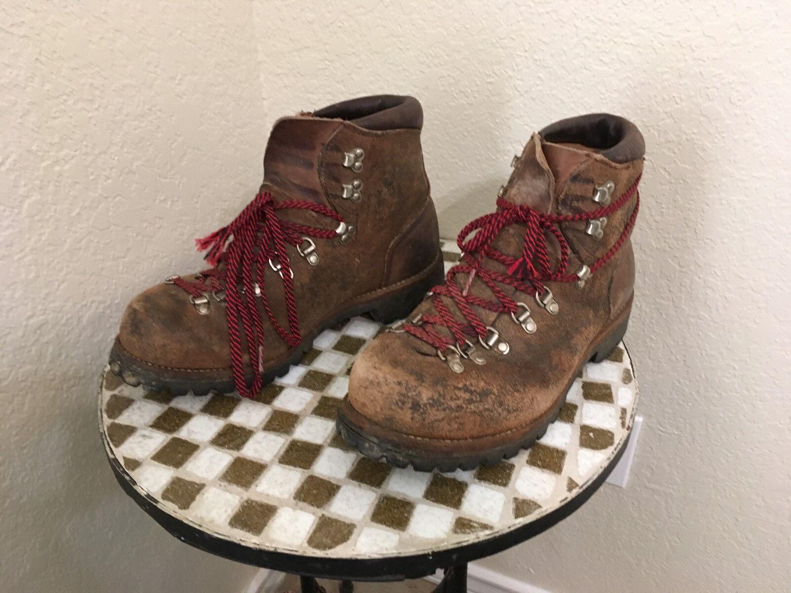 EE. UU. Vintage Vasque Marrón Cuero alpinista excursionista Trail botas 10.5 M