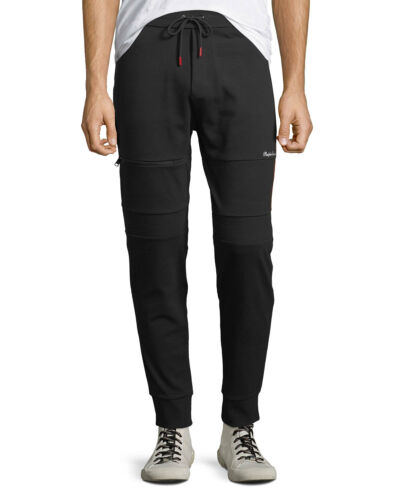 $595 Purple Label Mens Black Tour De Ralph Lauren Cycling Track Pants Jogger NWT