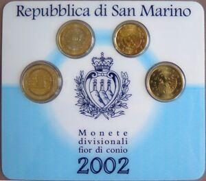 SAX2002X.1 - MINI SET SAINT MARIN - 2002 - 20 cents, 50 cents, 1 euro et 2 euros