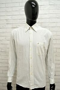 Camicia-ROCCOBAROCCO-Uomo-Taglia-Size-XL-Maglia-Shirt-Man-Cotone-Regular-Quadri
