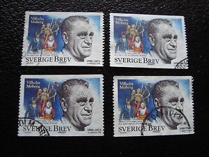 SUEDE-timbre-yvert-et-tellier-n-2052-x4-obl-A29-stamp-sweden-Y