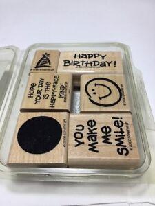 Two step stampin smile Stampin Up rubber stamp set