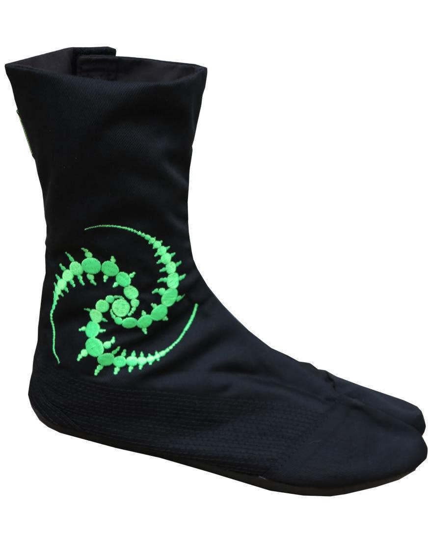 original UV Ninja botas Goa von Space Tribe Hippie Goa botas Zapatos Psy Art Tabi Stiefel 3 9376f9